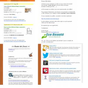 4 différents formats d'email